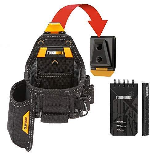 TOUGHBUILT TOU-CT-25X Tape Measure/Utility Knife Pouch + Notebook & Pencil, TB-CT-25X