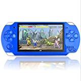 Danisse 4.3 Inch 8GB Handheld LCD Portable Game Console, Built-in More Than 1200 Real Video Games, Used for Gba Gbc SFC Fc SMD Games Mp3 Mp4 Mp5 DV DC. Best Gifts for Children Adults Blue