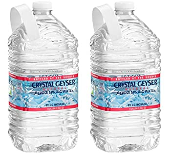 CRYSTAL GEYSER SINCE 1977 Purified Water 1 Gallon 25.4 Fl Oz  Pack of 2