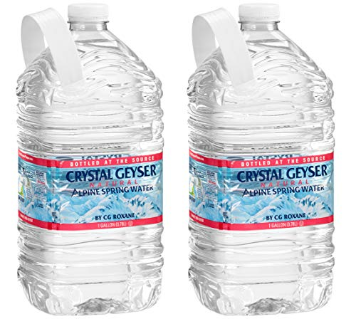 CRYSTAL GEYSER SINCE 1977 Purified Water 1 Gallon, 25.4 Fl Oz, (Pack of 2)