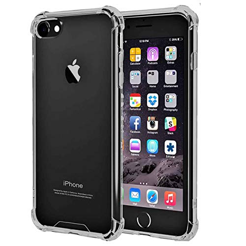 iBarbe Clear Cover for iPhone 6/6s,Protective Shell Shockproof Heavy Duty TPU Bumper Case Anti-Scratches Extreme Protection Cover Heavy Duty Card Case for iPhone 6 6S 4.7'