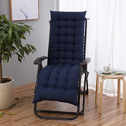 hanyaqi - Cojín reclinable para tumbona, cojín reclinable, cojín para silla mecedora, exterior interior jardín, terraza reclinable 155 x 48, color azul marino
