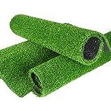 FOGUO Césped Artificial 2x6m, Hierba Artificial para Terraza, Césped Sintético de Alta Densidad, Alfombrilla De CéSped Artificial, Césped de Plástico para Balcón de Jardín