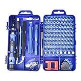 TTW Destornillador Multifunción Set para Teléfonos Celulares Desmonte Gafas De Reloj Herramientas Eléctricas 115 En 1 Aleación De Acero (Color : 115 in 1 Blue)