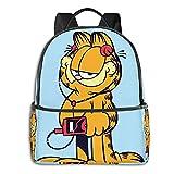 Garfield Show Anime Fashion Cute Boy Girl Mochila escolar