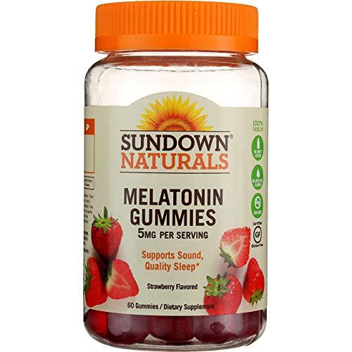 Sundown Naturals Melatonin 5 mg, 60 Gummies (Pack of 4)