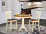 3 Pc counter height Dining room set - high top Table and 2 bar stools.