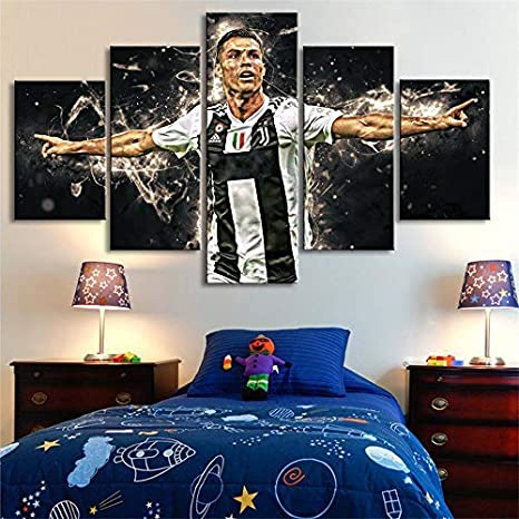 : 40x50cm no Framed Inch Size Gabcus Cristiano Ronaldo Painting by Numbers Football Stars Soccer Paint by Numbers on Canvas Home Decor Painting -