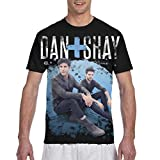 Dan+Shay T Shirt Men's 3D Printed Graphic T Shirt Fashion Tops Round Neck Short Sleeve Tee Black