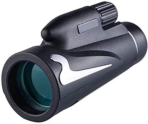 JJDSN Telescopio monocular 12x50, monocular Compacto de Alta Potencia con Lente BAK4 Prism FMC Monocular con Adaptador para Smartphone y trípode para Adultos, niños, observación de Aves