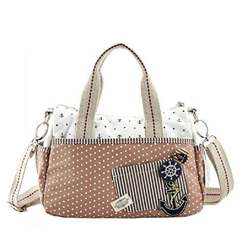 MiCoolker(TM Polka Dot Korean Version Creative Student Messenger Shoulder Bag Cute Little Girls Lady Canvas Handbag