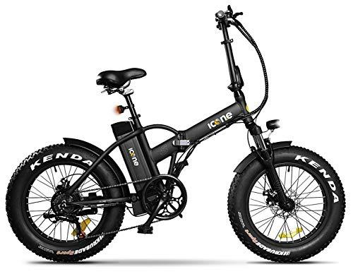 giordanoshop Black, Icon.e Bici Elettrica Pieghevole AllRoad Plus 250W Pure Unisex Adulto, No Size