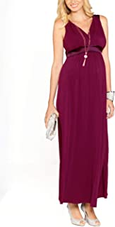 Angel Maternity Women's Maternity Evening Party Dress in Maxi Style