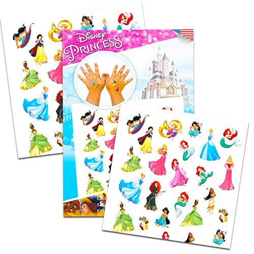 Over 175 Temporary Tattoos Featuring Minnie Mouse Disney Tattoos Party Favor Set For Girls Disney Princess and Moana with Bonus Disney Princess Stickers 20 Disney Temporary Tattoo Sheets