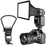 neewer camera speedlite flash softbox e kit di riflettore diffusore per canon nikon e altre flash fotocamere dslr, neewer tt560 tt850 tt860 nw561 nw670 vk750ii flash