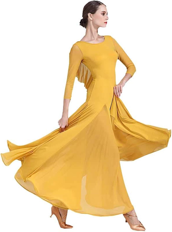 YTS Frauen Rundhals Langarm Modern Dance Dance Dance Rock, nationalen Standard Latin Tango Dance Kleidung B07HTG4XC4  Trend ca2568