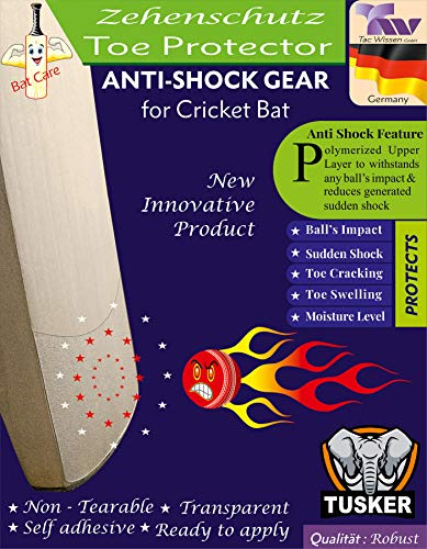 Tusker Cricket Bat Toe Protector