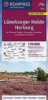 KOMPASS Fahrradkarte Lueneburger Heide, Harburg 1:70.000, FK 3314: reiss- und wetterfest mit Extra Stadtplaenen