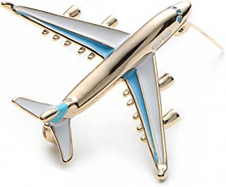 Jana Winkle Alloy Airplane Brooch Pins Enamel Red Blue Plane Luxury Brand Brooches