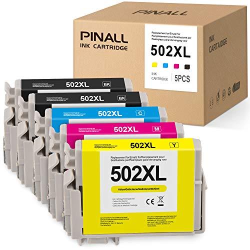 PINALL - Cartucce per stampante Epson 502XL 502 XL, compatibili con stampanti Epson Expression Home XP-5105, 5100 Epson WorkForce WF-2860DWF, 2865DWF