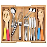 Drawer Dividers Silverware Tray Expandable Utensil...