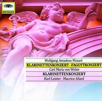 Mozart, W.A.: Clarinet & Bassoon Concerto; Weber: Clarinet Concerto