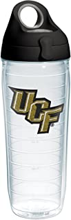 Tervis UCF Knights Primary Logo Tumbler with Emblem and Black with Gray Lid 24oz Water Bottle, Clear
