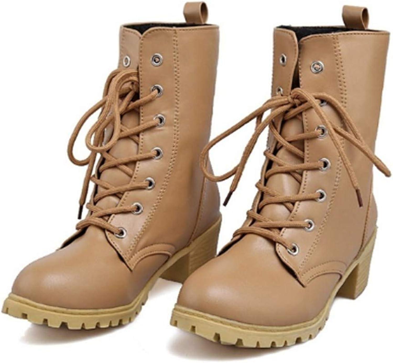 FMWLST FMWLST FMWLST Stiefel Damen Stiefel Casual Stiefeletten Kampf Reiten Stiefeletten Winterstiefel Weibliche PUstiefel  131363
