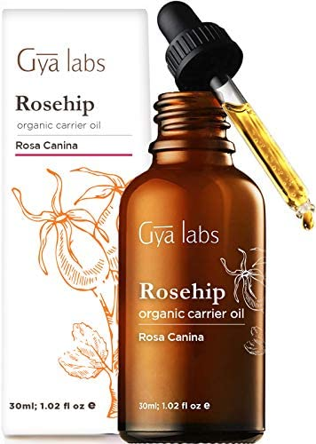 Gya Labs Organic Rosehip Oil For Face Skin and Hair Topical for Dry Mature Skin Reduce Stretch product image