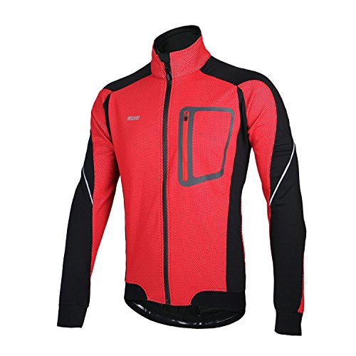 ARSUXEO Winter Thermal Fleece Cycling Jacket