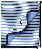 Ralph Lauren Baby Men's YD Interlock Stripe Blanket Suffield Blue Multi One Size