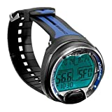 Cressi Leonardo Dive Computer Watch -Wrist (Black/Blue)