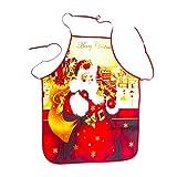 3D SchüRze Weihnachten KochschüRze KüChenschüRze Mit Verstellbare Nackenband GrillschüRze Hochwertige QualitäT LatzschüRze Mini Unisex Weihnachtsdekoration FüR Damen Herren