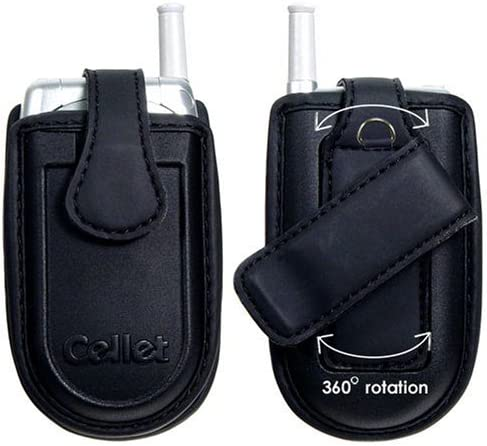 Cellet Small Soft Cell Phone Universal Holster / Pouch / Case with Swivel belt clip