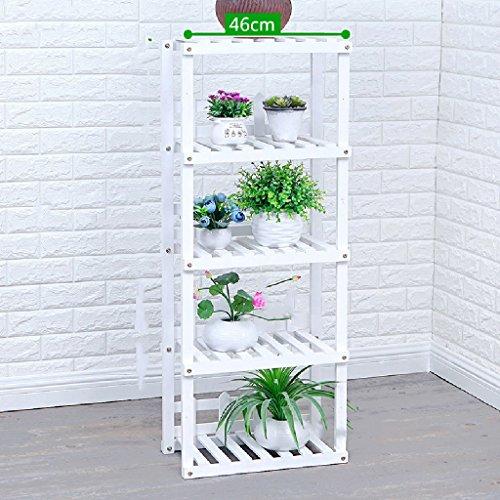Combinaison Fleur Racks en Bois Massif Étagères Salon Cuisine Stockage Racks Intérieur Bonsaï Cadre L * W * H: 46 * 25 * 114 cm (Couleur : Blanc)