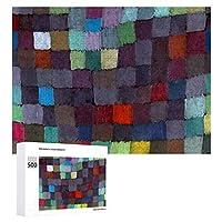 INOV パウルクレーは描くかもしれません ジグソーパズル 木製パズル 500ピース キッズ 学習 認知 玩具 大人 ブレインティー 知育 puzzle (38 x 52 cm)