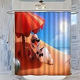 AFGGOL Anime Movie Frozen Duschvorhänge Frozen Schneemann Olaf Heimdekoration Wasserdicht Duschvorhang mit Haken 183 x 183 cm