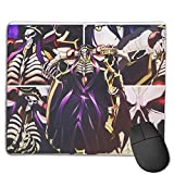 Overlord Alfombrilla de ratón antideslizante rectangular de goma, alfombrilla de ratón para juegos, 22 x 18 cm