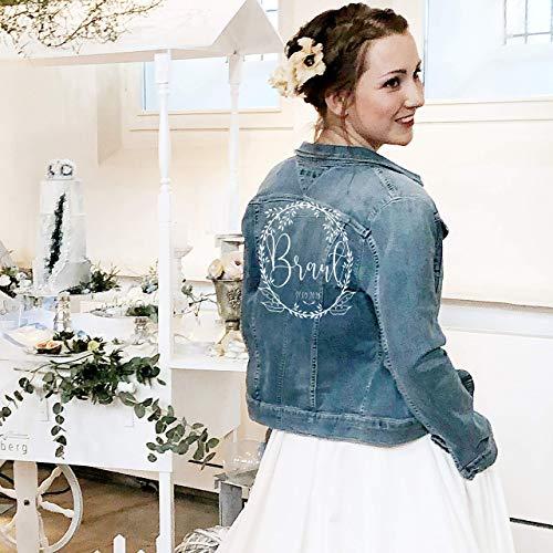 Bügelbild Braut Jeansjacke für Hochzeit oder JGA
