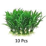 ALONGB (10 Piezas) Plantas de Agua de Acuario de plástico/Hierba Verde acuática
