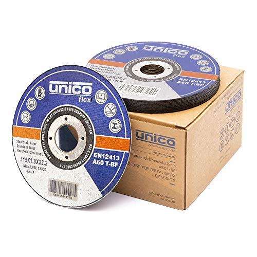 50 Stück Trennscheibe 115 Metall - 50x Trennscheiben 115 x 1,0 mm/Flexscheiben 115 Metall dünn 1mm / Bohrung: 22,23 mm/für Trenn- oder Winkelschleifer