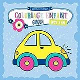 Coloriage enfant dès 1 an GARÇON - Cahier de dessin pour garçons avec auto, pompier, police, tracteur, camion, dinosaure et de nombreux autres. Pour le tout-petits de 1 2 3 ans
