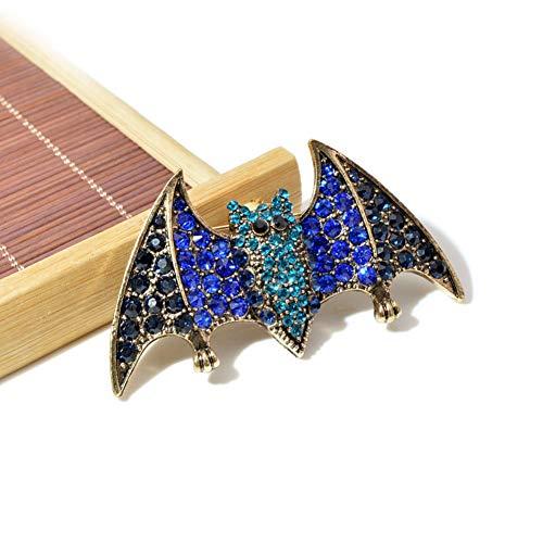 WANGKEAI Broches De Murciélago De Diamantes De Imitación De Color Azul para...