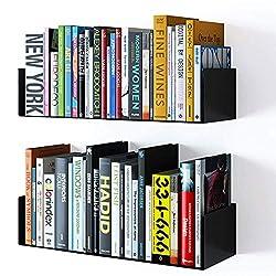 small Bali Wall Furniture Floating Wall Metal U-shaped Shelf Book CD DVD Storage Display Bookshelf…