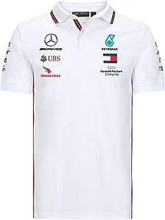 Mercedes AMG Petronas F1 Fahrer Langarm T-Shirt Schwarz Offiziell 2020