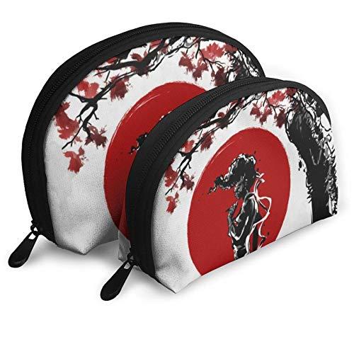 XCNGG Anime Afro Samurai, bolsas de cosméticos, bolso portátil, bolso de mano, conjunto de bolso de viaje para hombres y mujeres, con organizador de bolsos con cremallera, 2 uds.