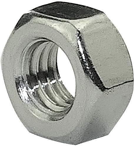 AERZETIX - Juego de 50 - Tuercas hexagonales 6 lados - Piezas Metálicas/Separado/Apriete/Ensamblaje - Acero inoxidable A2 - Rosca M6 Métrica Hembra - Bricolaje - DIN 934 - Color plata - C45773
