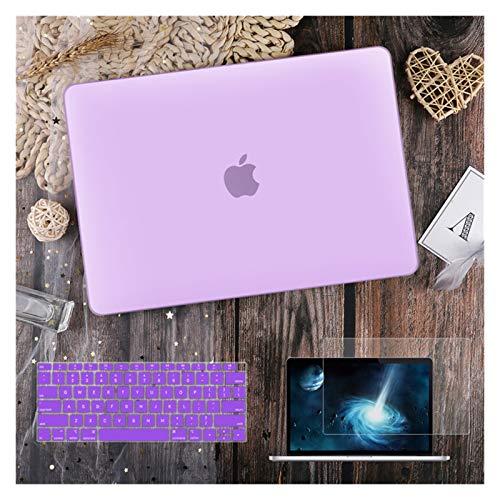 para MacBook Air 11 12 13.3'Cubierta Clara De Cristal para MacBook Air Pro 13 15 16 Touch Barra/Touch ID A2289 A2338 M1 A2159 (Color : Matte Purple, Size : Newest Pro13 A1708)
