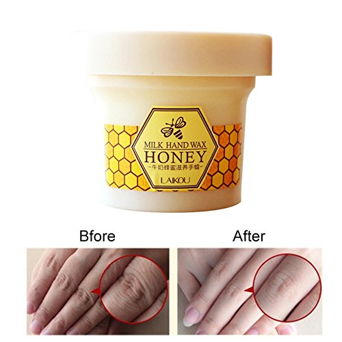 Ofanyia Milk Honey Paraffin Wax Hand Wax Hand Mask Hand Skin Care Moisturizing Exfoliating Hand Mask Cream 120g