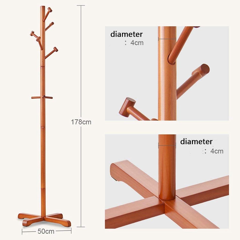 JZX Coat Rack, Solid Wood Floor Type Simple Storage Rack